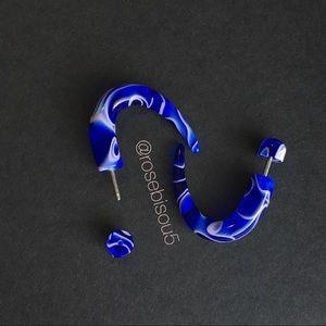 Jewelry - 🎁Blue Spiral Faux Gauge Earrings